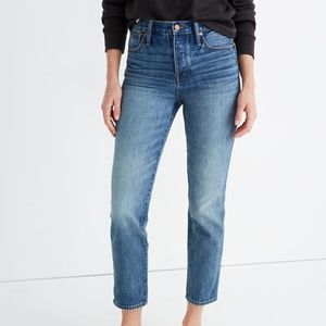 Madewell Rigid Stovepipe Jeans Portsmouth Wash 27